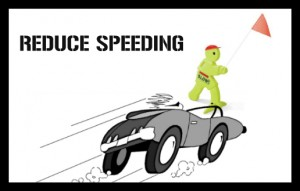 REDUCE SPEEDING