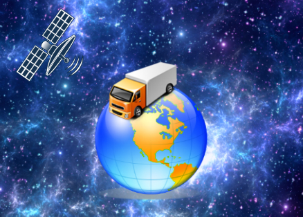 truck in space